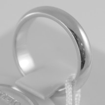 SOLID 18K WHITE GOLD WEDDING BAND UNOAERRE RING 7 GRAMS MARRIAGE MADE IN ITALY image 2
