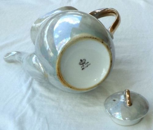 Giftcraft Iridescent Teapot Pearl Lustre Made in Japan