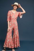 NWT $256 ANTHROPOLOGIE TULIP WIDE-LEG JUMPSUIT by COREY LYNN CALTER M - $104.99