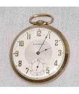 "GREAT Vtg 1 3/4"" J BOSS WALTHAM 17 Jewel Pocket Watch - $125.63"