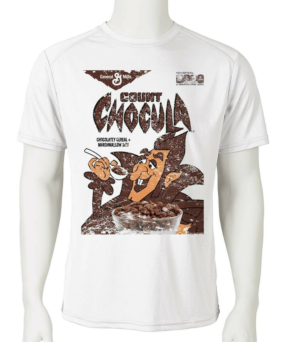 Count Chocula Dri Fit graphic T-shirt moisture wicking monster cereal SPF tee