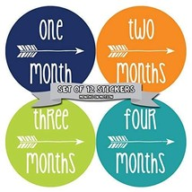 NEW Baby Month Stickers Baby Tribal Arrows Months 1-12 Monthly Age Stick... - $13.72