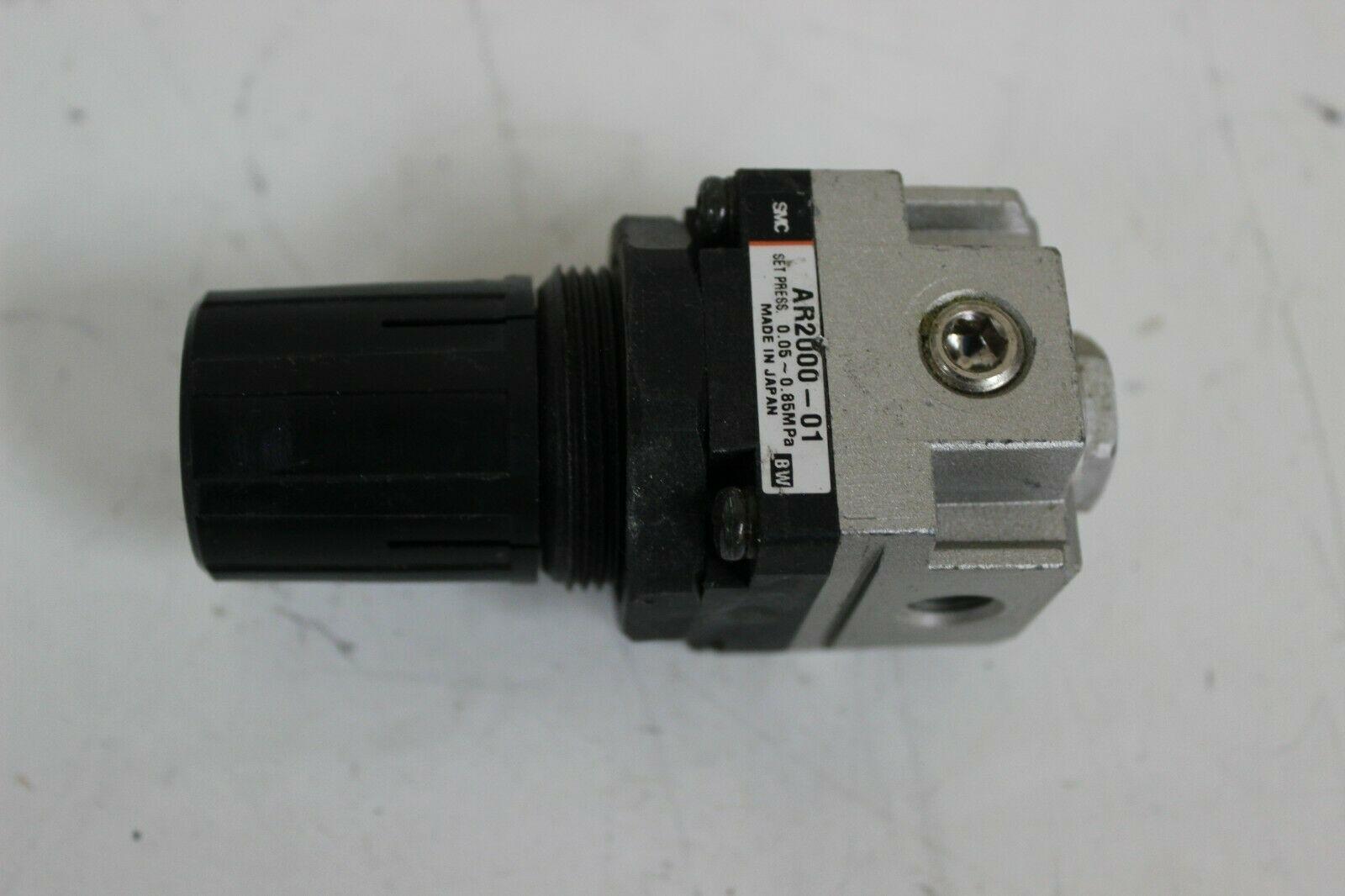 SMC AR2000-01 Modular Air Pressure Regulator Set Press 0.05-085Mpa Port size 1/4