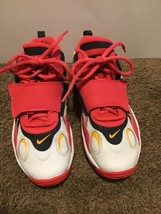Nike Youth White Blue Red Air Max Speed Turf Shoe Deion Sanders 3.5Y US ... - $29.69