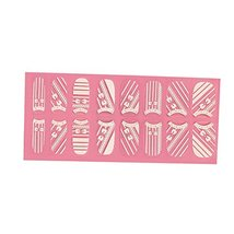 [Set of 2]Easily Apply 12 PCS Artificial Lucency Nail Polish Sticker, Bowknot image 2