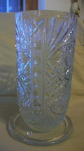 VINTAGE MIKASA CRYSTAL FLOWER VASE WITH SEPARATE GLASS BASE - $44.54