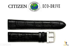 Citizen AT0120-02L Eco-Drive Original 20mm Schwarz Leder Uhr Band Armband - $82.50