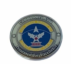 Challenge coin vtg service award military commanders 50th mission suppor... - $17.37