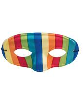 Mask Rainbow  Colorful 70s Retro Rainbow Domino Mask Costume Accessory - $0.99