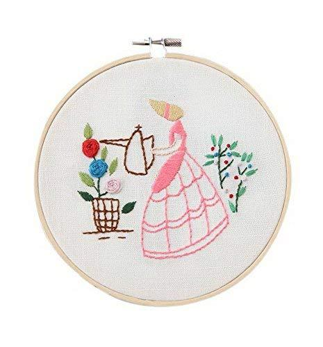 2 Pack Handmade Embroidery Material Kits Simple Cross-stitch Paintings, Gardener