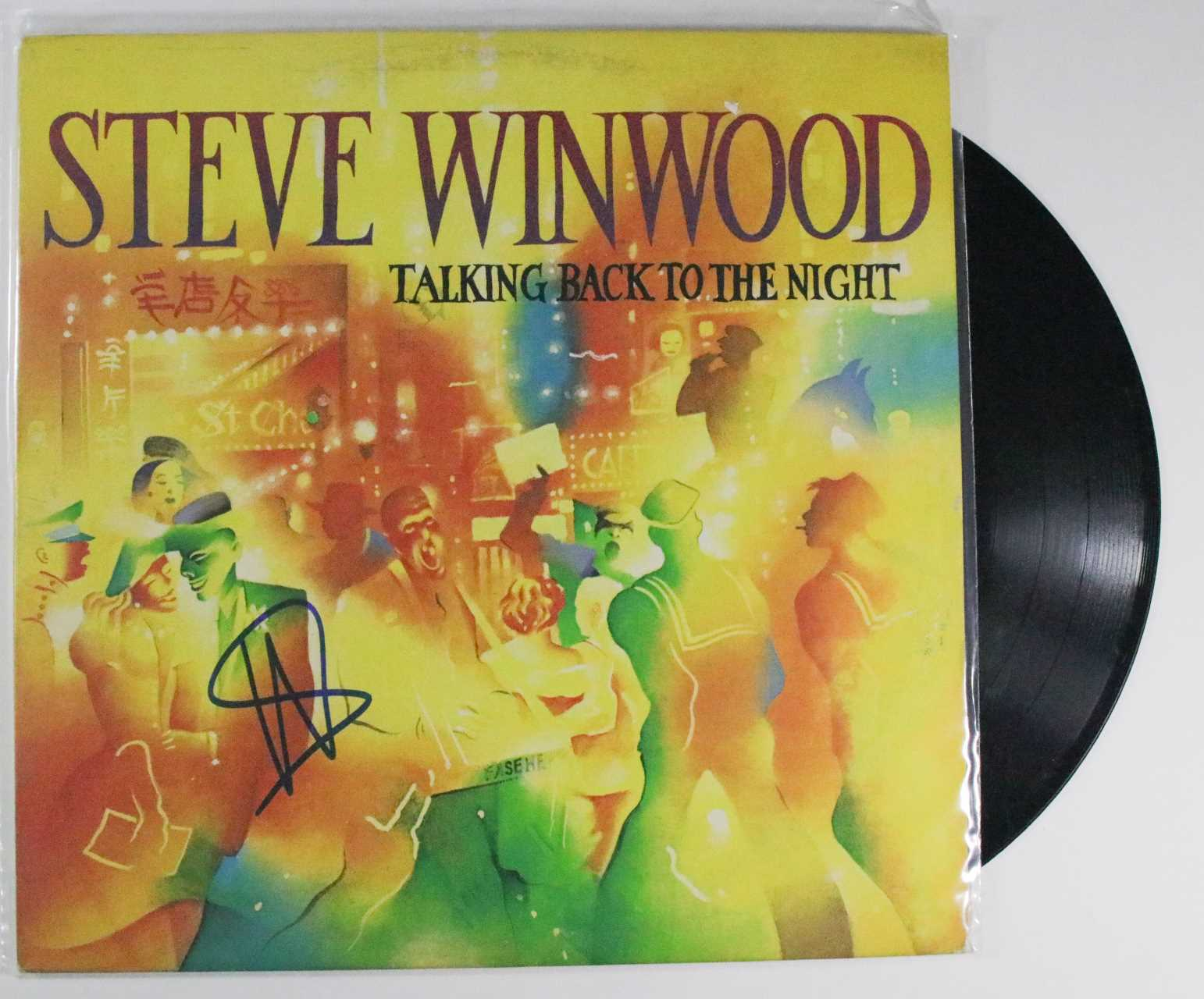 "Primary image for Steve Winwood Signed Autographed ""Talking Back to the Night"" Record Album"