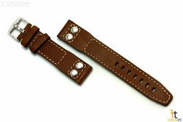 24mm Brown Smooth Leather RIVET Watch Band Fits Luminox Strap Anti-Allergic - $37.75