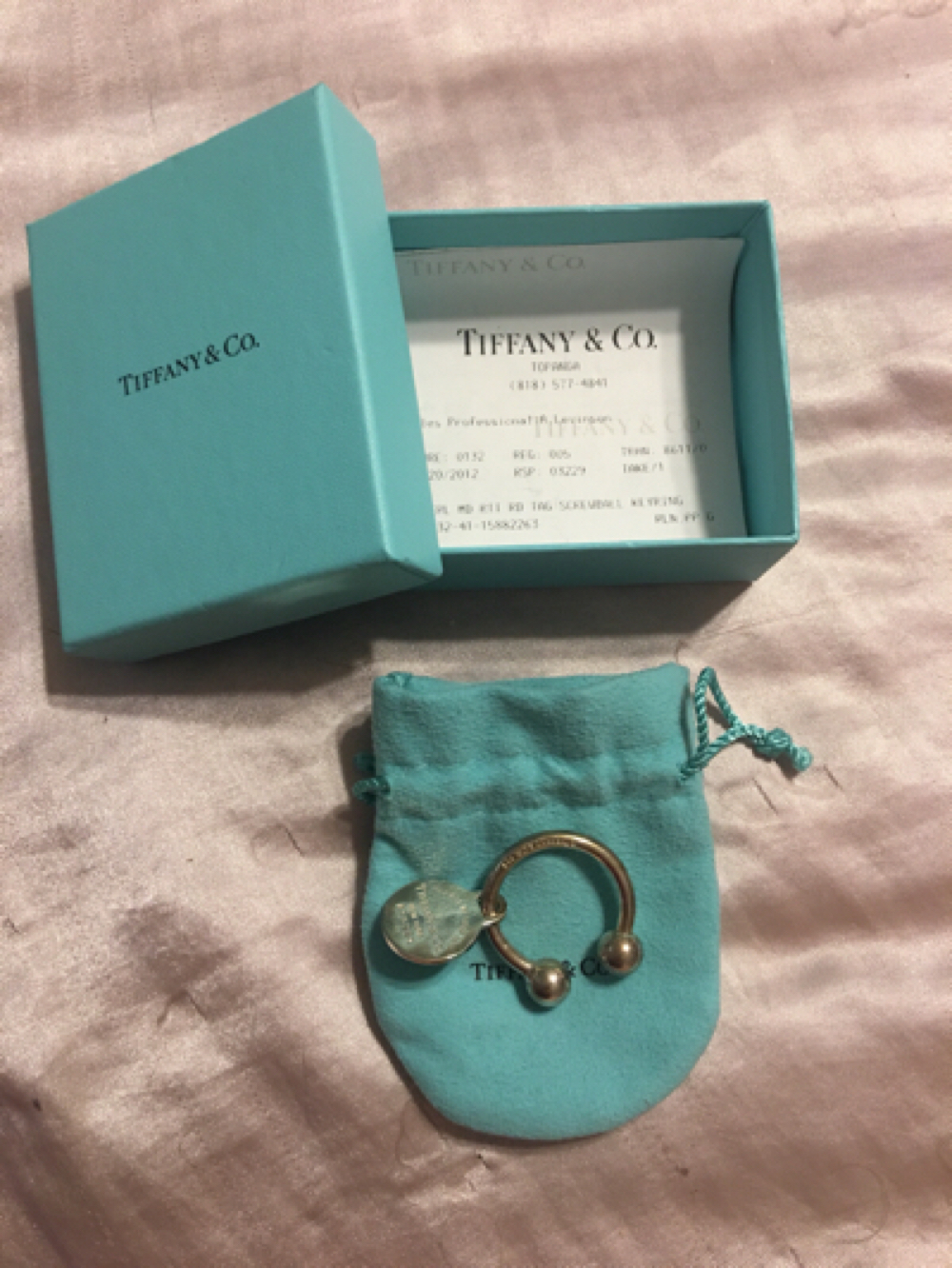 Tiffany&Co keychain with round tag
