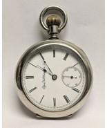 Elgin National Watch Co 18 size11j stem wind/lever set, 1890, pocket wat... - $247.50