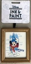 Disney Parks Ink And Paint Sorcerer Mickey Framed Canvas Ornament Fantas... - $16.95