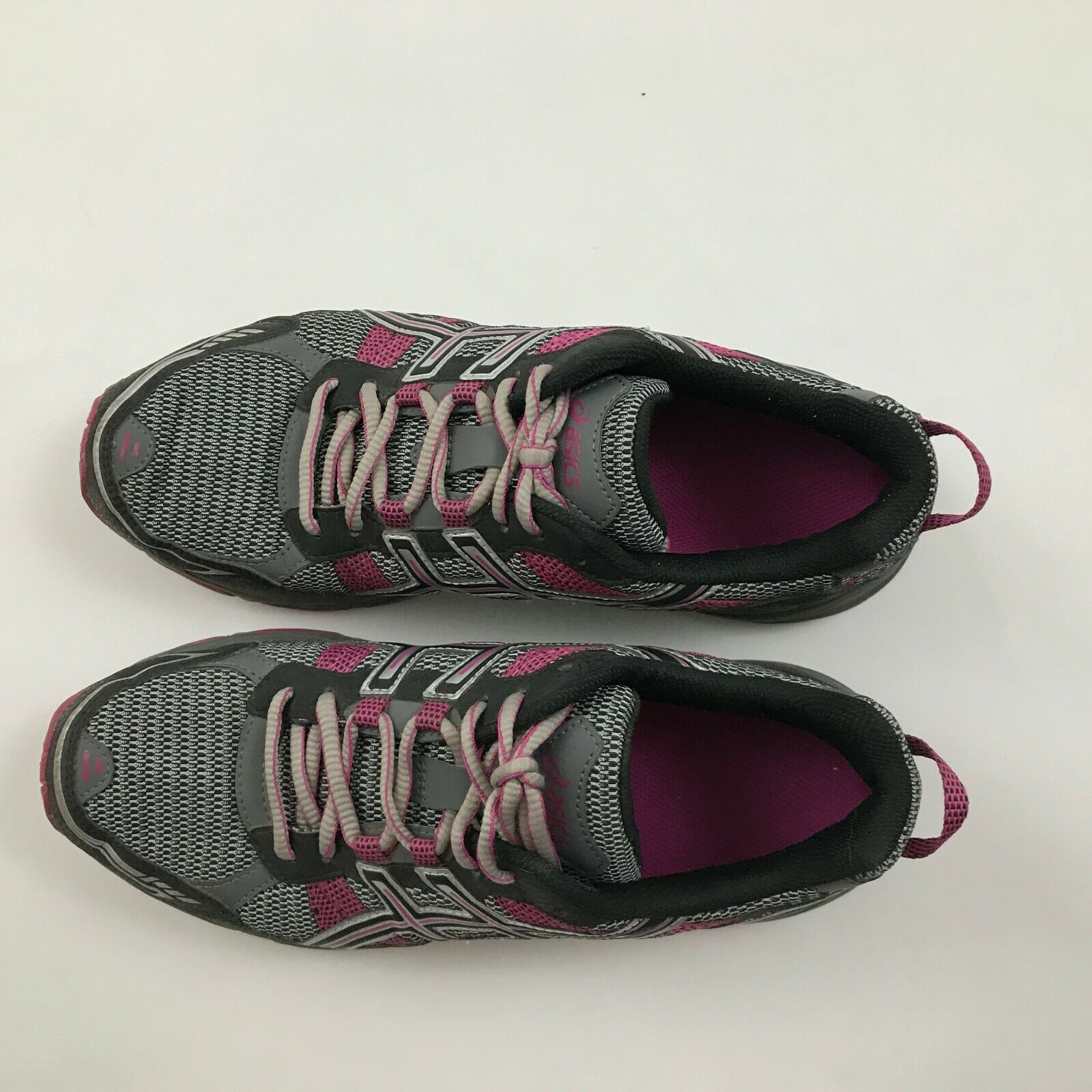 Asics Gel Venture 4 Womens Size 9.5 Running Shoes Gray Pink Sneakers Mid Lace Up
