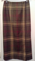 Talbots Petites Long Plaid Wool Wrap Skirt Lined size 2 - $28.06