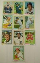 Topps Baseball Card Lot Assorted Teams Players 1978 10 Cards - $10.00