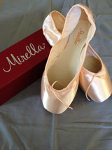 Mirella Academie Ms101ac Pointe Ballet Shoes Pink, Sz 7.5, 1x Nib Orig - $41.88