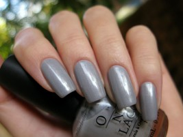 OPI Toyland SHEER YOUR TOYS! Silver Grey w/ Pink Shimmer Nail Polish 806... - $15.03
