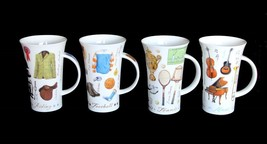 Dunoon Glencoe Equestrian*Tennis*Football*Music Large Latte Bone Mug Eng... - $29.99