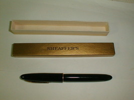 Sheaffer's fountain pen piston filler No. 33 14K gold nib black gold - $120.00