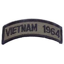 Vietnam 1964 Od Subdued Shoulder Rocker Tab Embroidered Military Patch - $13.53