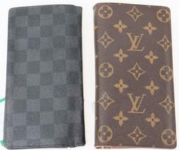 z4-108 LOUIS VUITTON Monogram Damier Graphite Brazza Bifold Wallet 2P Se... - $290.00