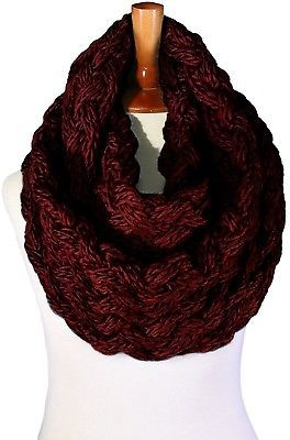 Basico Women Winter Chunky Knitted Infinity Scarf Warm Circle Loop Various
