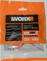 WORX WA0004 Replacement Spool Line DNA Line 2 Orange Red 10 Feet Pkg 2 .065 Size image 1