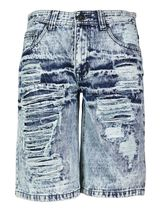 Brooklyn Xpress Men's Relaxed Fit Ripped Distressed Destroyed Jean Denim Shorts image 6