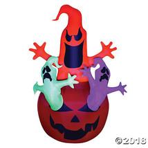 Airblown Pumpkin with Neon Ghosts Halloween Décor - $167.36