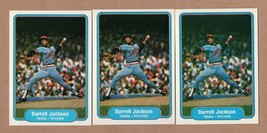 1982 Fleer #555 Darrell Jackson Error var lot, red cap, black cap, white... - $49.95