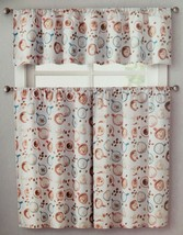 """3 pc. Curtains Set: Valance (56""""x14"""") & 2 Tiers (28""""x36"""") COFFEE CUPS & BEANS,VC - $17.81"""