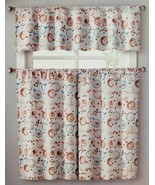 """3 pc. Curtains Set: Valance (56""""x14"""") & 2 Tiers (28""""x36"""") COFFEE CUPS & ... - $17.81"""