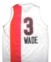 Dwyane Wade #3 Miami Floridians Custom Basketball Jersey Sewn White Any Size image 2