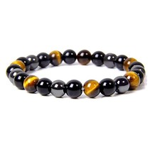 Natural Tiger Eye Obsidian Hematite Beads Bracelets Men Magnetic Health ... - $2.18+