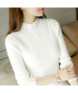ON Sale 2019 spring women ladies turtleneck slim fitting knitted Thin sw... - $11.90