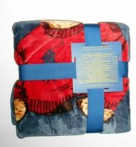 "Polo Ralph Lauren Sweater Bear Navy Throw Blanket 50"" x 70"" nwt - $136.75"