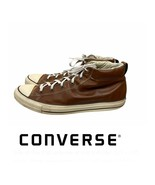 Converse Chuck Taylor Street Mid Top Sneakers 136420C Brown Leather Size 13 - $44.15