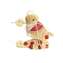 Enesco Adorable Chick Bird Figurine Sewing Needle Thread Berries Best Ne... - $16.48