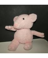 Vintage EDEN Peter Rabbit PIG fuzzy nubby textured pink plush PIgling bl... - $12.02