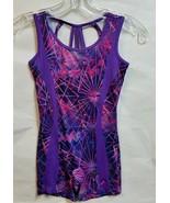 Capezio FS1202 Girl's Medium(8-10) Purle/Purple Girls Biketard - $24.74
