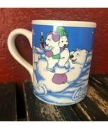 Coca Cola Polar Bear 1999 Mug Vintage Christmas Microwave Safe Soda Coff... - $24.74