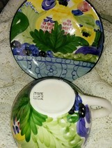 FAVANOL MARTINIQUE PORTUGAL HAND PAINTED BREAD PLATE/SAUCER AND CUP - $24.54