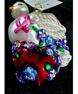Christopher Radko WINGS OF LOVE Breast Cancer Poland Glass Christmas Orn... - $44.55