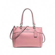 NEW COACH (F25395) CROSSGRAIN MINI BROOKE CARRYALL VINTAGE PINK HANDBAG ... - £108.10 GBP
