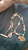 Old Mine Kingman's Turquoise Necklace,w/ Milk quartz, Fish pendant Men or Women image 5