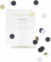 """West Emory Engagement Party Invitation Kit Confetti 12 5"""" x 7"""" Cards Env... - $30.52"""