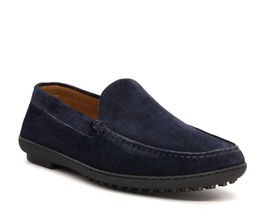 Handmade Men Blue Color Stylish Apron Toe Moccasin Loafer Slip Ons Leath... - $139.90+